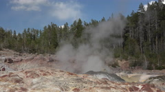Steamboat Geyser close view eruption Yellowstone Park 4K Stock Footage