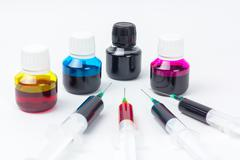 Inkjet refill set Stock Photos