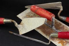 Stock Photo of Masonry tools in a mess