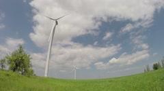 Working wind turbines Stock Footage