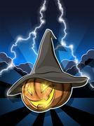 Halloween pumpkin - stock illustration