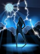 dancing woman - stock illustration