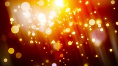 4K Animation. Abstract motion background, shine, light, bokeh, particles, loop. Stock Footage