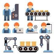 Production Process Vector Illustration - stock illustration