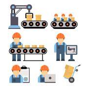 Production Process Vector Illustration Stock Illustration