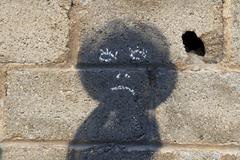 Rag Doll  Painted on the Wall - stock photo