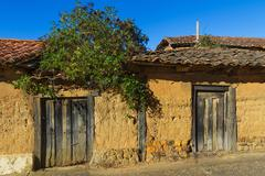 Old Houses of Adobe Stock Photos