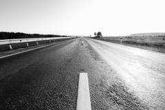 Empty road with slight motion blur Stock Photos