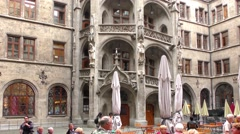 The New Town Hall on Marienplatz in Munich, Germany Stock Footage