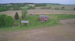 CREEPY HAUNTED HOUSE_Aerial_3, Licking County, Ohio Stock Footage