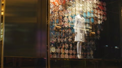 High fashion in Hong Kong window 4K Stock Footage
