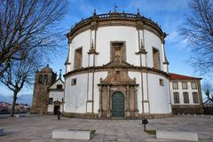 Church of Monastery of Serra do Pilar in Portugal - stock photo