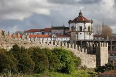 Muralhas Fernandinas and Serra do Pilar in Porto - stock photo