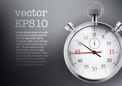 Background with analog stopwatch. Stock Illustration