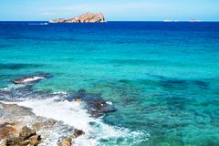 Illa de Espartar island in the Balearic Islands, Spain Stock Photos