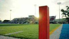 Football Stadium Pylon Sun Flare - stock footage