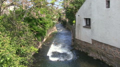 Washford River at Watchet in Somerset Stock Footage