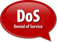 Stock Illustration of DoS acronym definition speech bubble illustration