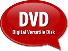 Stock Illustration of DVD acronym definition speech bubble illustration