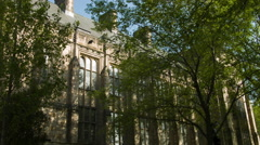 University buildings, Ivy League College, Yale Stock Footage