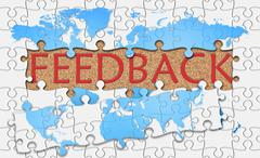 Stock Illustration of Jigsaw puzzle reveal  word feedback