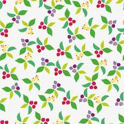 Background, berry, grey - stock illustration