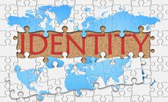 Stock Illustration of Jigsaw puzzle reveal  word identity