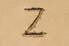 Sand Letter - stock photo
