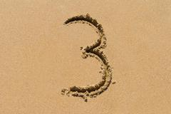 Sand Number - stock photo