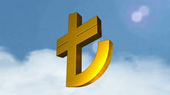 3d currency symbols (Lira) Stock Footage