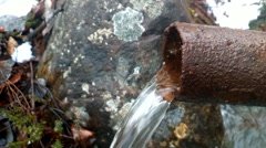 Water unfit rusty tubing pipe  Stock Footage
