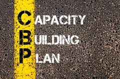 Concept image of Business Acronym CBP as Capacity Building Plan - stock photo