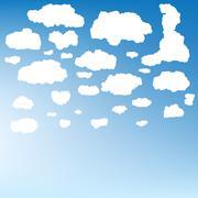 Stylized cloud silhouettes set. EPS 10 Stock Illustration