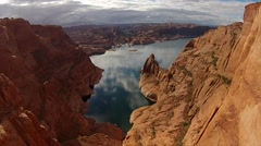 Lake Powell near Hole in the Rock Utah Stock Footage