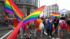 2015, London Pride. Stock Footage