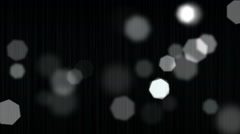 Luminous background with bokeh and particles Stock Footage