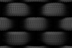 Black tire rubber. - stock illustration