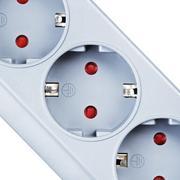 Surge Protector Socket - stock photo
