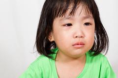 Little Asain Chinese Crying - stock photo