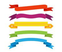 Stock Illustration of Set of retro ribbons and labels. Vector illustration