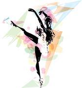 Stock Illustration of Ballet Dancer illustration
