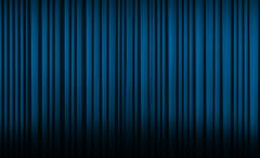 Blue curtain in theater. Stock Illustration