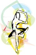 Ballet Dancer illustration Stock Illustration