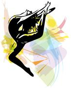 Ballet Dancer illustration - stock illustration
