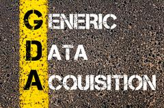 Concept image of Business Acronym GDA as Generic Data Acquisition - stock photo
