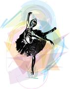 Stock Illustration of Ballet Dancer illustration