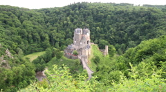 View of the castle Burg Eltz. Stock Footage