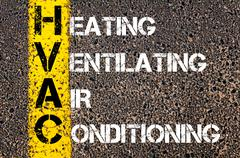 Business Acronym HVAC as Heating Ventilating Air Conditioning Stock Photos