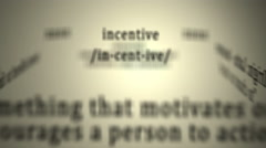 Definition: Incentive Stock Footage