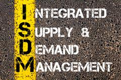 Business Acronym ISDM as Integrated Supply and Demand Management  - stock photo